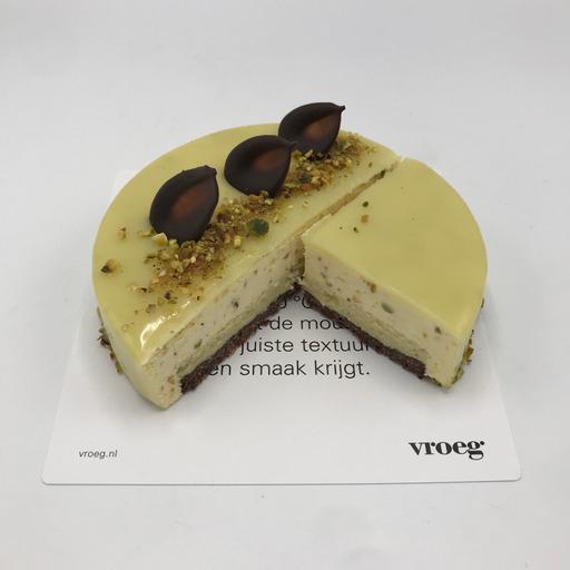 restaurant bakkerij vroeg - witte chocolade pistache taart