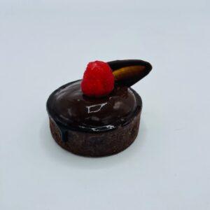 tartelette chocolade framboos - restaurant bakkerij vroeg